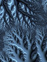 ice laden forest view by fractalhead