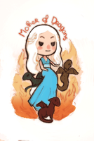 chibi  mother of dragons by audreymolinatti