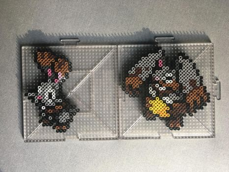 #659-#660 Bunnelby and Diggersby Perlers by TehMorrison
