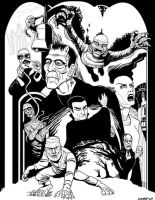 Universal Monsters 2013 Inks by DadaHyena