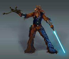 Wookie Warrior Shortatha by ElJore