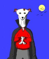 'Greyhound Vampire' in MS Paint by Cecilia-Schmitt