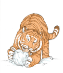 Tiger and snow ball 2 by lyadrielle