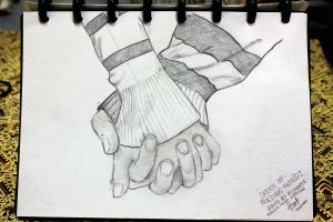 holding hands sketch by hannahpriscaHP