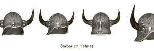 Barbarian Helmets png stock by mysticmorning