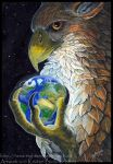 Gryphon Tarot: The World by silvermoonnw