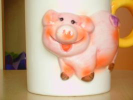 Piggy cup by francy-stock
