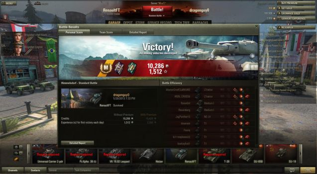 World of Tanks- Holy crap, i did wonderfull! by sniperwiner