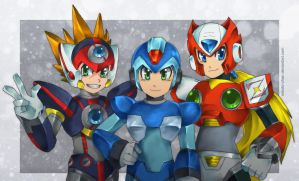 MMX-Maverick Hunters by Mikoto-chan