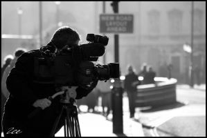City News And Camera Crews by CRIMSONlipstain