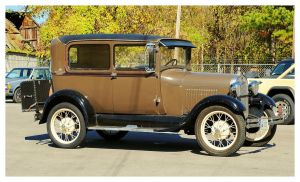 Nice Brown Ford Model A by TheMan268