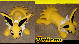 Jolteon Plushie by Allyson-x
