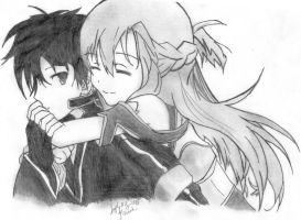 kirito and Asuna ( Sword Art Online ) by 00ookrrishoo00