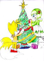 Christmas tails and cosmo 1- by erosmilestailsprower