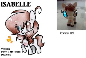 Isabelle : Version LPS , Version Pony ( My style ) by gigifeh