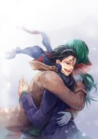 YMP : Toudou and Makishima by zaphylla