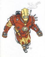 Iron Man Steampunk by arthelius