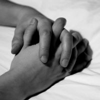 clasped hands by evelynzee