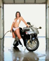 stevie and the honda by scottchurch