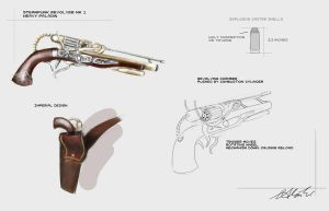 Steampunk Pistol by Firegardensuite