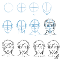 Simple Front View Face Drawing Tutorial by Juacamo