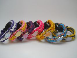 Pony-themed Paracord Bracelets by flarewingpwny
