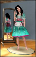 Sims 3 Alice Siren Dress by jagged66