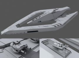 Imperial Star Destroyer WIP 3D by AdamKop