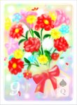 BOUQUET card for my Impressionist Lenormand deck! by primavistax