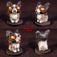 Possessed Evil Papillon dog by Undead-Art