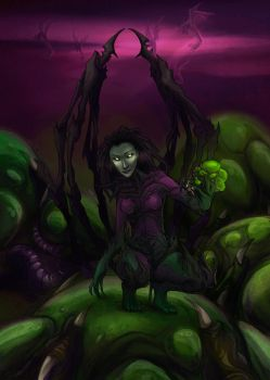 Queen of Zerg Eggs by Mintomay