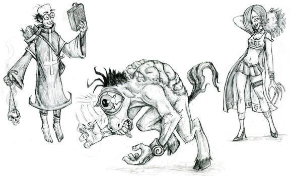 Characters for Hench by MrSeanLane