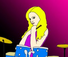 Drummer Girl by geminiswede