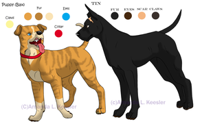 Tin and Puppy Ref. Sheet by Demonic-Pokeyfruit