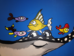 School Fish Painting by HigeOkami