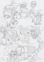 Commish: Digimon Rumble Academy DigiBus Ideas by BlueIke