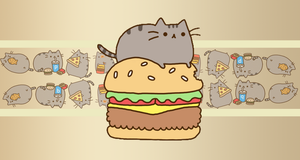 pusheen wall 1 by peoplewannabeloved