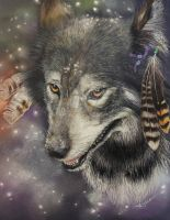 Native American Wolf by AnimalArtist1