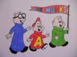 Classic 60's Chipmunks by Brittany-Psalm28-7