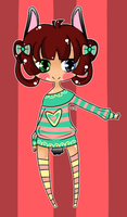 Stripes Bunny Adopt -CLOSED- by GangstaCakes