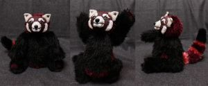 Bruce the Wine Red Panda by Zielle