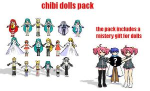 MMD chibi dolls pack by bawicho