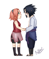 SasuSaku - Commission for RoxeyeSize by Mylla-Peppers23