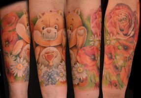 Champ in the flowers :) by kayleytatts
