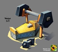 Monster Life - Egypt - Work out bench by joslin