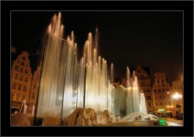 Wroclaw Town Square by night by Rajmund67