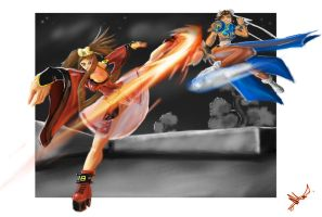 Chun Li Vs Jam by BlackPhrost-Ixion