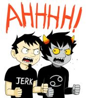 Dan Vs Karkat by kichigai