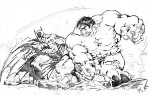 Hulk x Batman by toze-barnabe