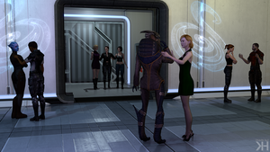 Gina and Garrus: Shore Leave by Grummel83